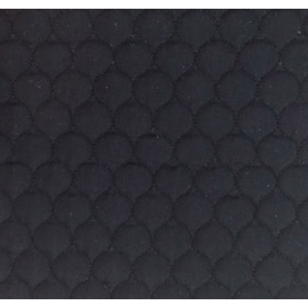 508 Black Polycotton Single Sided Quilt