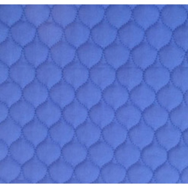 502 Blue Polycotton Single Sided Quilt W148cm