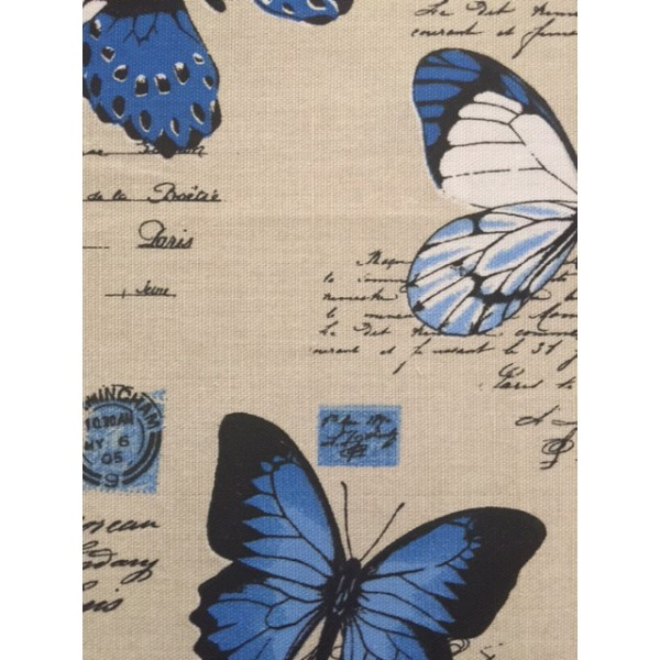 IBF05 Taupe & Blue Butterflies
