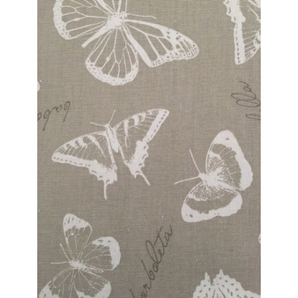 IBF07 Taupe & White Butterflies