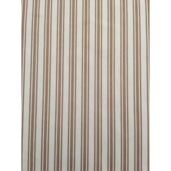 IBF08 White & Taupe Stripes