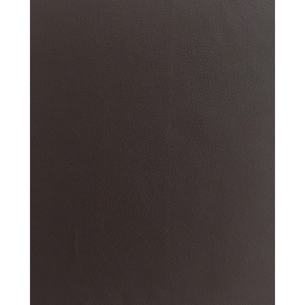 315 Dark Brown PEVA Leather Grain Look Waterproof Soft Flocked B