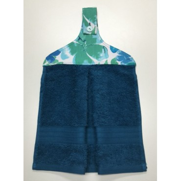 HHT12 - Hanging Hand Towel - Teal Towel & Floral Boutique
