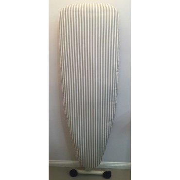 IBC08 - Ironing Board Covers - Standard - White & Taupe Stripes