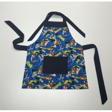 KA01 - Kids Aprons - Batman with Black Trim