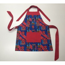 KA03 - Kids Aprons - Spiderman with Red Trim