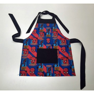 KA04 - Kids Aprons - Spiderman with Black Trim