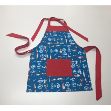 KA05 - Kids Aprons - Cat in the Hat with Red Trim