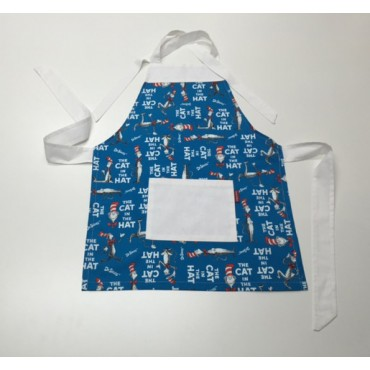 KA06 - Kids Aprons - Cat in the Hat with White Trim