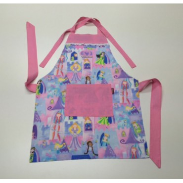 KA09 - Kids Aprons - Princesses and Castles