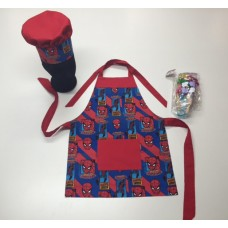 KCS03 - Kids Cooking Set - Spiderman with Red Trim
