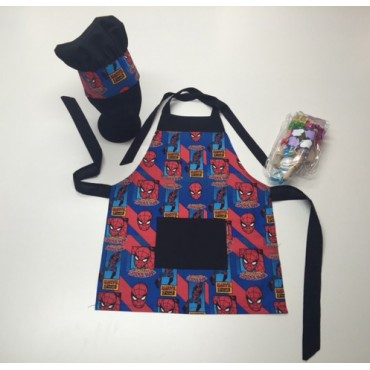 KCS04 - Kids Cooking Set - Spiderman with Black Trim