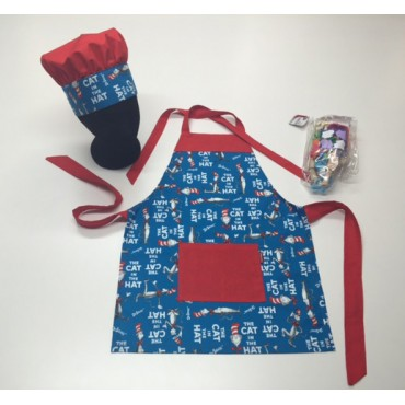 KCS05 - Kids Cooking Set - Cat in the Hat with Red Trim