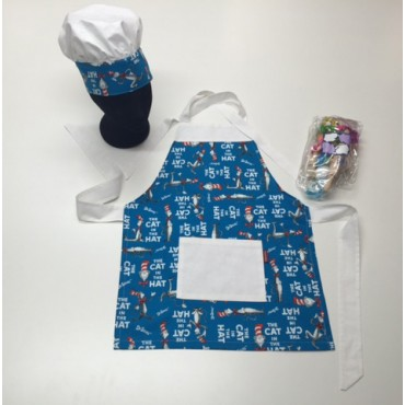 KCS06 - Kids Cooking Set - Cat in the Hat with White Trim