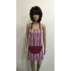 LA02 - Ladies Aprons - Fuchsia Stripe
