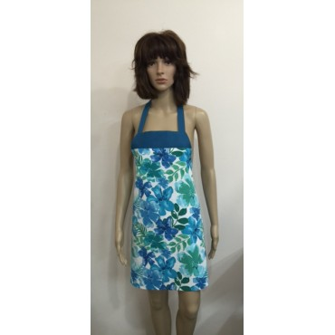 LA13 - Ladies Aprons - Blue Floral Boutique