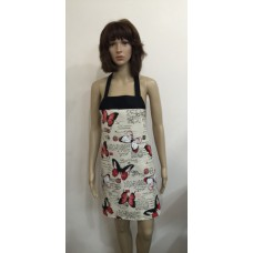 LA14 - Ladies Aprons - Red Butterflies & Postcards