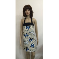 LA15 - Ladies Aprons - Blue Butterflies & Postcards