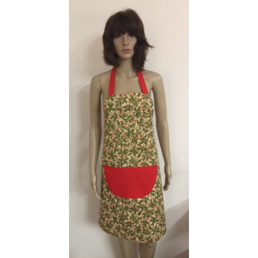 LA20 - Ladies Aprons - Christmas Holly Print