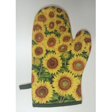 OMO07 - Oven Mitts - Oyster Yellow Sunflower