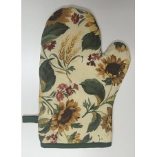 OMO08 - Oven Mitts - Oyster Golden Sunflower