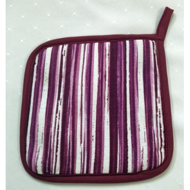 OMPH01 - Oven Mitts - Pot Holders Fuchsia Stripe