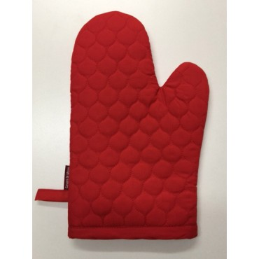 OMO16 - Oven Mitts - Oyster Red Quilt