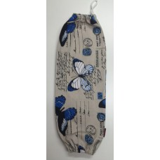 PBH05 - Plastic Bag Holder - Blue Butterflies & Postcards