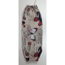 PBH06 - Plastic Bag Holder - Red Butterflies & Postcards