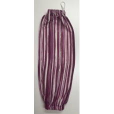 PBH19 - Plastic Bag Holder - Fuchsia Stripes