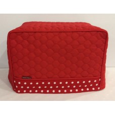 TC20 - Toaster Covers 2 & 4 Slice - Red Quilt with Red & White Spots Trim