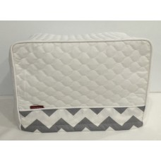 TC27 - Toaster Covers 2 & 4 Slice - TC08 White Quilt with Grey & White Trim.jpg