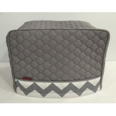 TC23 - Toaster Covers 2 & 4 Slice - Grey Quilt with Grey & White Trim