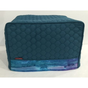 TC13 - Toaster Covers 2 & 4 Slice - Teal Quilt with Teal Water Colours Trim