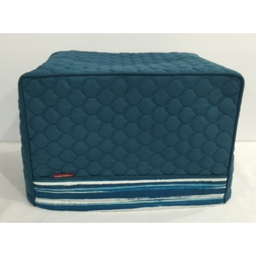TC14 - Toaster Covers 2 & 4 Slice - Teal Quilt with Teal Stripes Trim