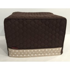 TC24 - Toaster Covers 2 & 4 Slice - Brown Quilt with Fawn White Spots Trim