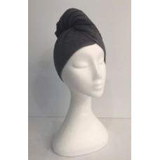 Twist Up Terry Hair Wrap - Charcoal