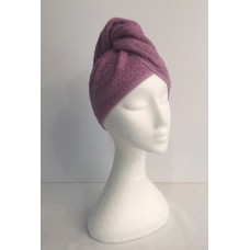 Twist Up Terry Hair Wrap - Mauve