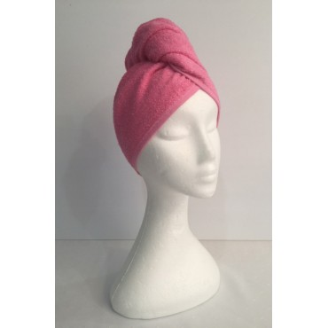 Twist Up Terry Hair Wrap - Pink