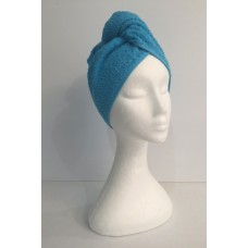 Twist Up Terry Hair Wrap - Blue