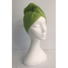 Twist Up Terry Hair Wrap - Green