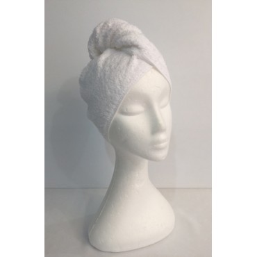 Twist Up Terry Hair Wrap - White