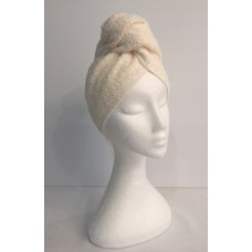 Twist Up Terry Hair Wrap - Cream