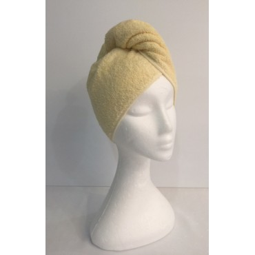 Twist Up Terry Hair Wrap - Lemon