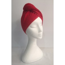 Twist Up Terry Hair Wrap - Red