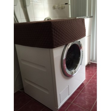 WM01 - Washing Machine &  Clothes Dryer Covers - Standard - Brown