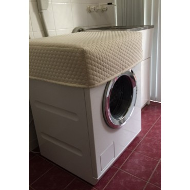 WM01 - Washing Machine &  Clothes Dryer Covers - Standard - Cream